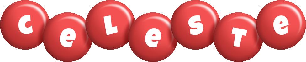 Celeste candy-red logo