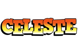 Celeste sunset logo
