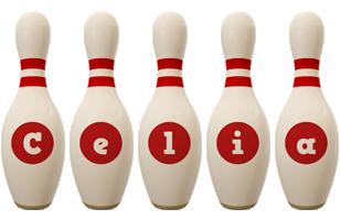 Celia bowling-pin logo