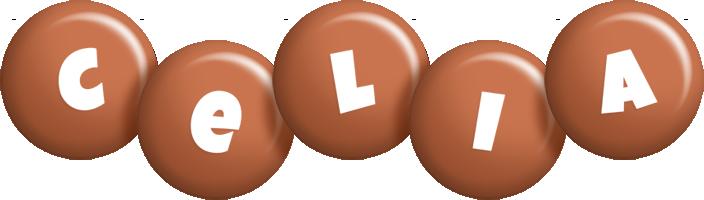 Celia candy-brown logo
