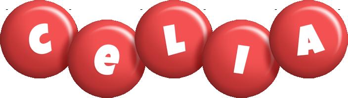 Celia candy-red logo