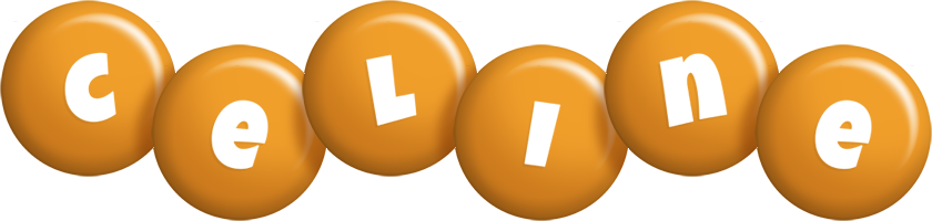 Celine candy-orange logo