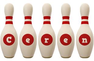 Ceren bowling-pin logo