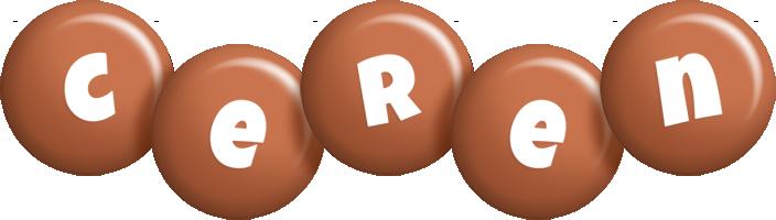 Ceren candy-brown logo