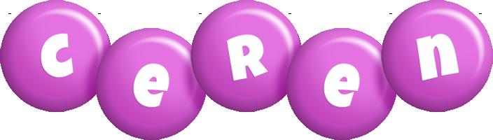 Ceren candy-purple logo