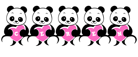 Ceren love-panda logo