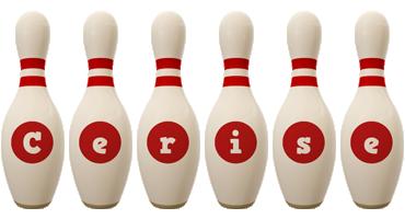 Cerise bowling-pin logo