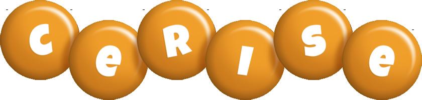 Cerise candy-orange logo