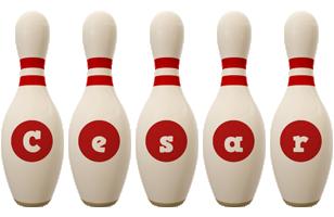 Cesar bowling-pin logo