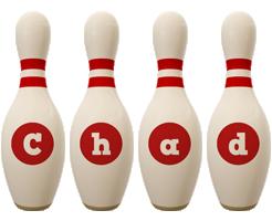 Chad bowling-pin logo