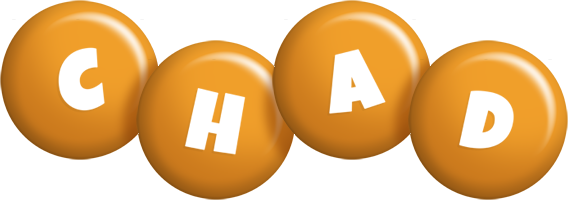 Chad candy-orange logo