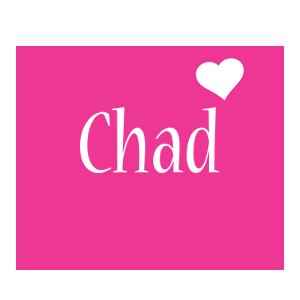 Chad love-heart logo