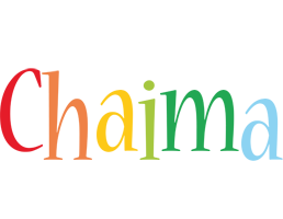 Chaima birthday logo