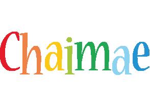 Chaimae birthday logo
