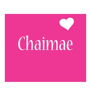 Chaimae love-heart logo
