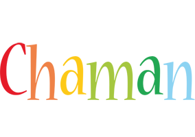 Chaman birthday logo
