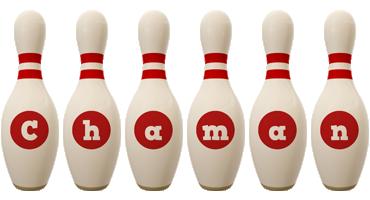 Chaman bowling-pin logo