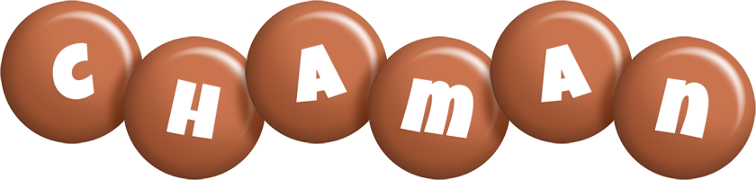 Chaman candy-brown logo