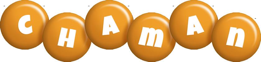 Chaman candy-orange logo