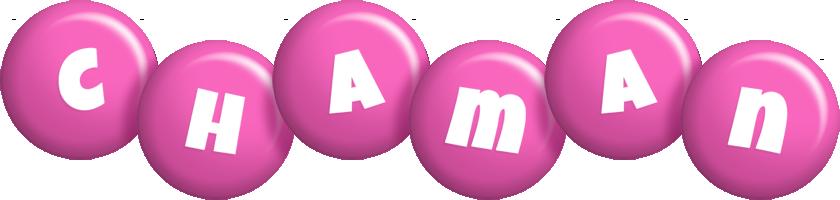 Chaman candy-pink logo