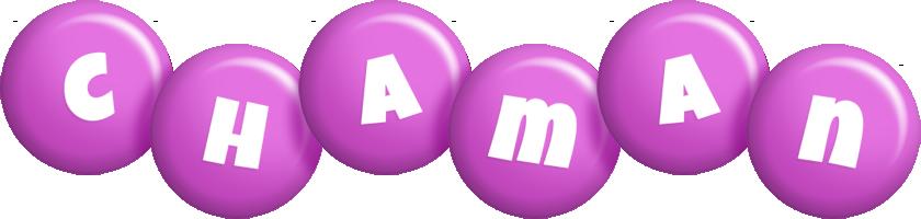 Chaman candy-purple logo