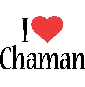 Chaman i-love logo