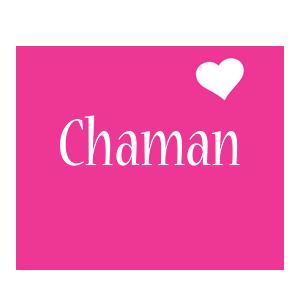 Chaman love-heart logo