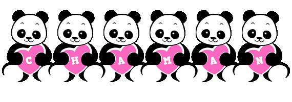 Chaman love-panda logo