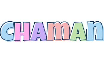 Chaman pastel logo