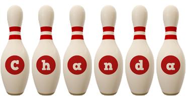 Chanda bowling-pin logo