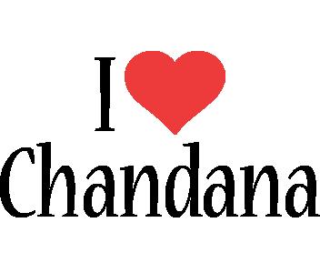 Chandana i-love logo