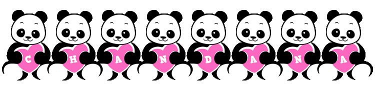 Chandana love-panda logo