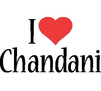 Chandani i-love logo