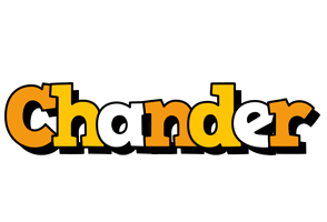 Chander cartoon logo