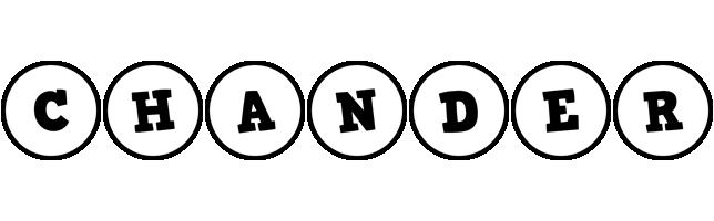 Chander handy logo