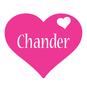Chander love-heart logo