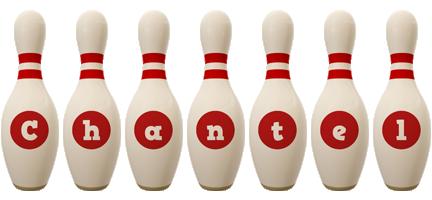 Chantel bowling-pin logo