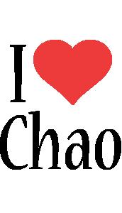 Chao i-love logo