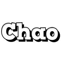 Chao snowing logo