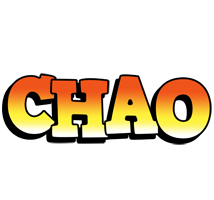 Chao sunset logo