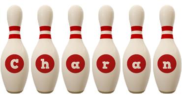 Charan bowling-pin logo