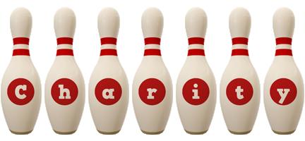 Charity bowling-pin logo