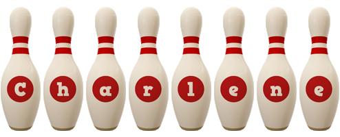 Charlene bowling-pin logo