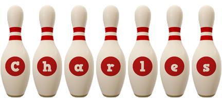Charles bowling-pin logo