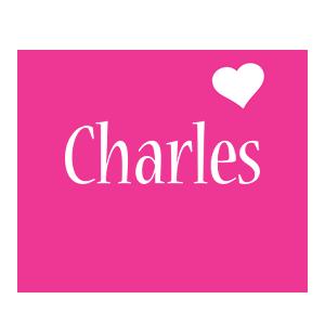 Charles love-heart logo