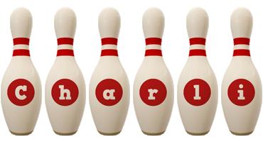 Charli bowling-pin logo