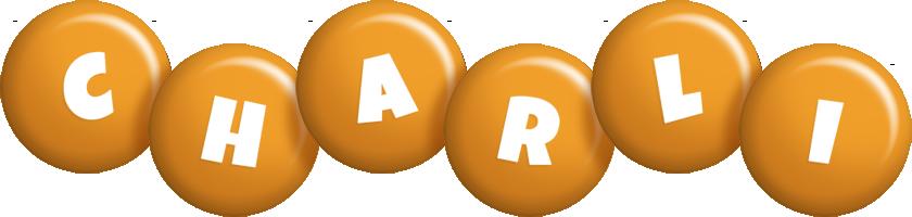 Charli candy-orange logo