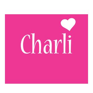 Charli love-heart logo