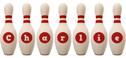 Charlie bowling-pin logo