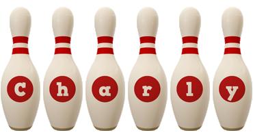 Charly bowling-pin logo